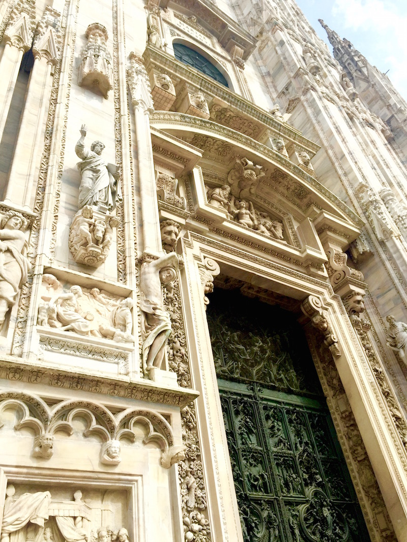 More exquisite details on the facade of the cathedral.