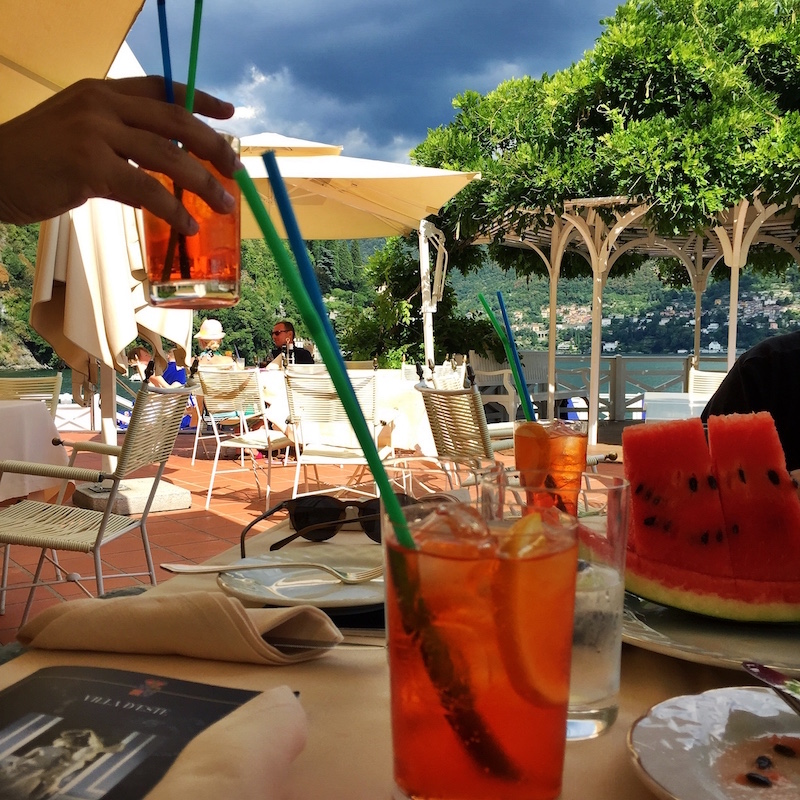 Lunch with a view. Drinking aperol spritz as per usual.