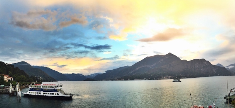 The clouds in Lake Como were like nothing I'd ever seen before. Constantly shifting and changing colours.