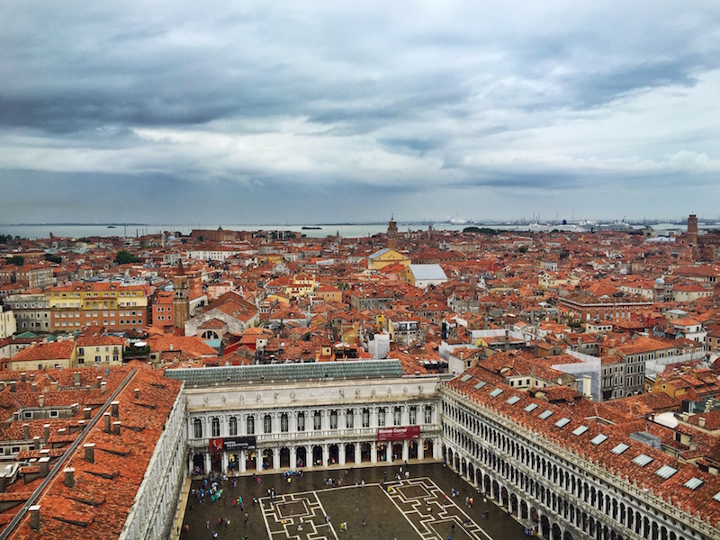 Piazza San Marco from up top.