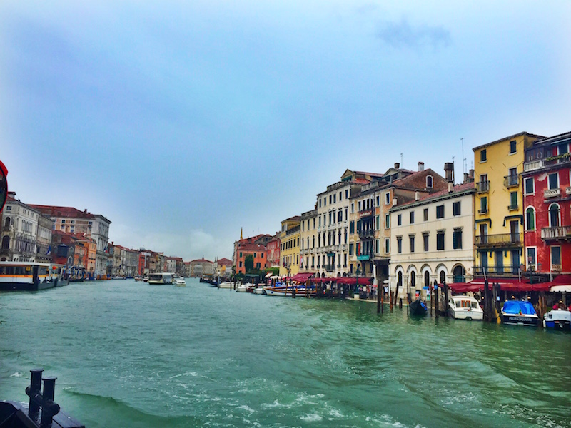 Grand Canal from the vaporetto.