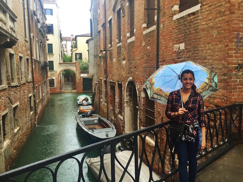 The rain doesn't make Venice any less beautiful.
