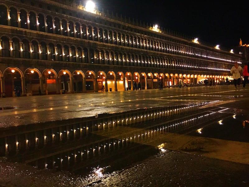Piazza San Marco at night!
