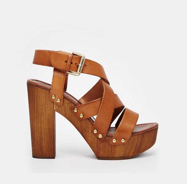 Tan leather Wooden