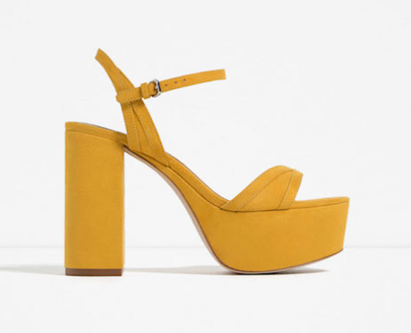 The perfect pop of colour to liven up any day. Put em on & go get drunk with the girls. Available at Zara.