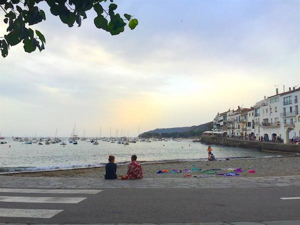 The town beach.