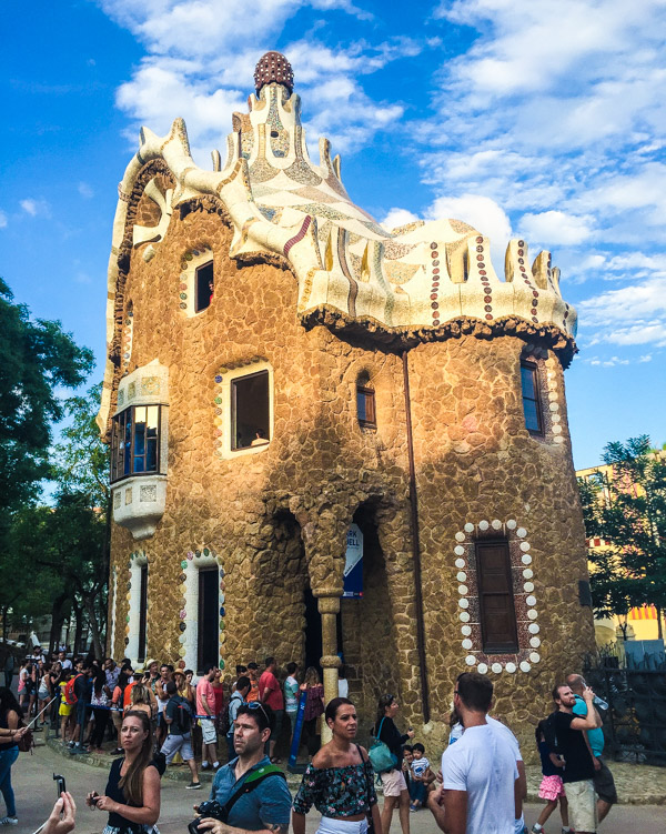 Park Guell, at one time this was Gaudi's home (we didn't go inside because of the 2+ hour wait)