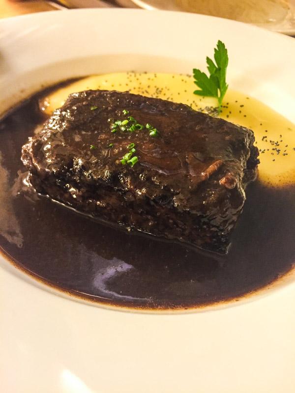 Beef cheek and potato mash