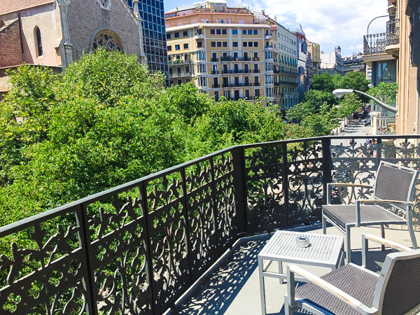 The gorgeous balcony